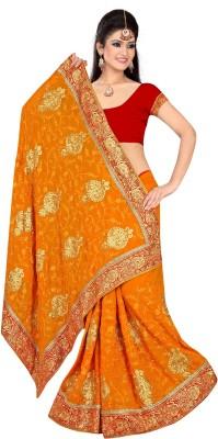 Pihu Fashion Embriodered Daily Wear Handloom Chiffon Sari