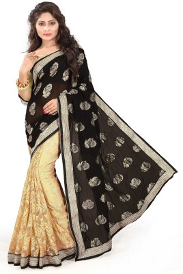Anu Creation Solid Bollywood Viscose Sari