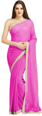 Saiyaara Fashion Plain Daily Wear Georgette Sari