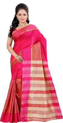 Fashionoma Self Design, Striped Fashion Polycotton Sari