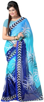 RajSilk Printed Fashion Georgette Sari