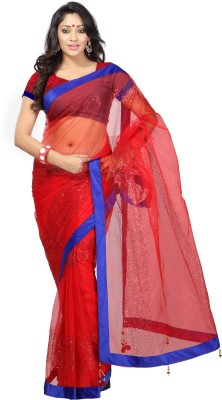 Kalash Sarees Self Design Fashion Net Sari