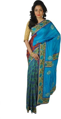 RB Sarees Self Design Fashion Silk Sari
