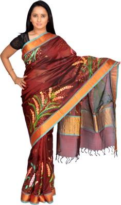 Siri Arts Printed Chettinadu Handloom Silk Sari