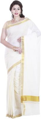 SriSyndicate Self Design Fashion Cotton Sari