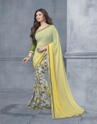 FashionArt Plain Bollywood Chiffon Sari