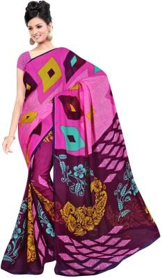 Maxusfashion Geometric Print Bollywood Georgette Sari