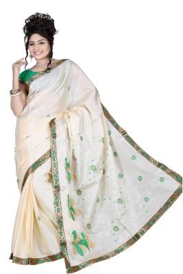 Chaand Sarees Embriodered Bollywood Tussar Silk Sari