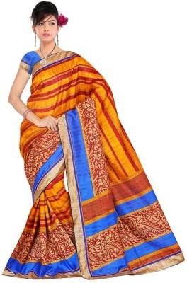 Kpcreation Printed Banarasi Banarasi Silk, Cotton Sari