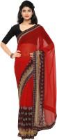 Rajnandini Printed Fashion Chiffon Sari(Multicolor)