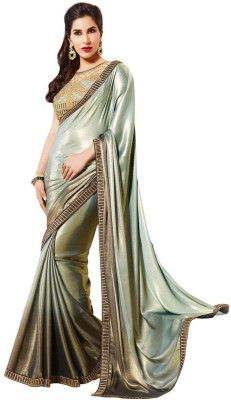 Thelibazz Self Design Fashion Crepe Sari