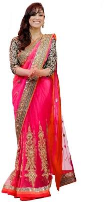 Fashionatics Self Design Fashion Net Sari