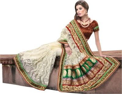 Triveni Self Design Fashion Net Sari