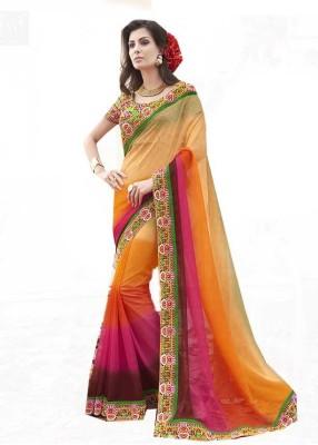 Rajhans Fashion Embellished Meghalaya Chiffon Sari