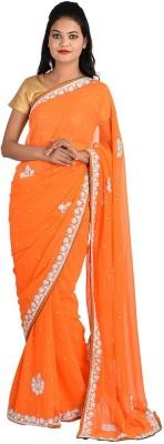 Jyoti Sarees Embriodered Fashion Chiffon Sari