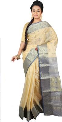 Womilo Self Design Jamdani Tussar Silk Sari