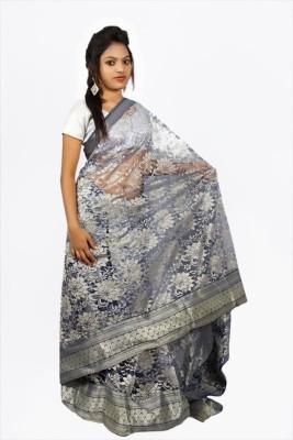 Creativz Hand Self Design Bollywood Net Sari