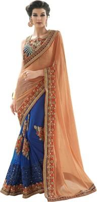V-Style4u Self Design Fashion Chiffon, Net Sari
