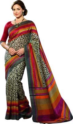 Oswal 777 Striped Fashion Art Silk Sari