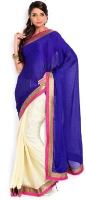 SJTrendz Solid Bollywood Velvet, Jacquard, Art Silk Sari