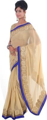 Vikrant Collections Plain Fashion Georgette Sari