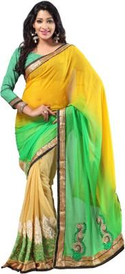 Jay Textile Self Design Fashion Pure Georgette Sari