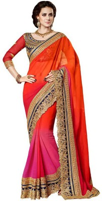 Shree Tex Embriodered Fashion Georgette Sari