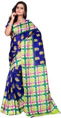 VardhitaFashion Floral Print Bhagalpuri Art Silk Sari