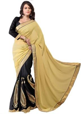 First Lady Embriodered Fashion Handloom Georgette Sari