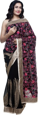 BlackBeauty Embellished Bollywood Georgette Saree(Multicolor) at flipkart