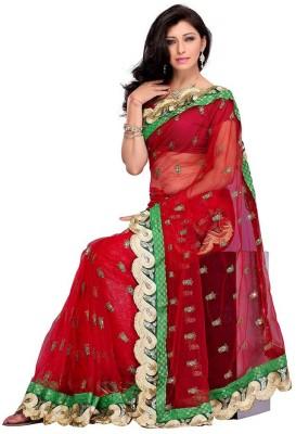 Ruda Self Design Fashion Handloom Net Sari