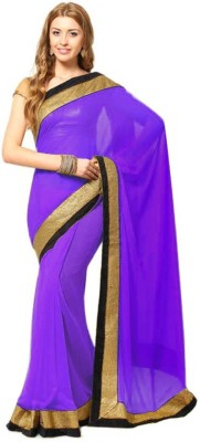Airs Fashion Solid Bollywood Pure Georgette Sari