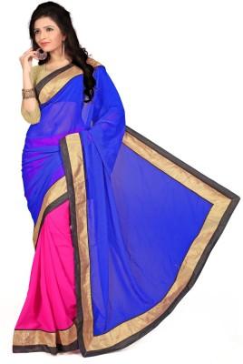 Aai Shree Khodiyar Art Solid Bollywood Georgette Sari