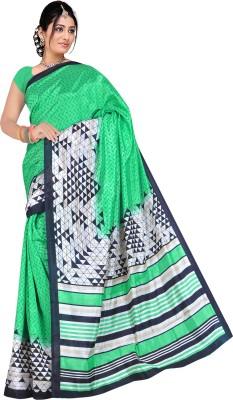 Mann Geometric Print Bhagalpuri Silk Cotton Blend Sari