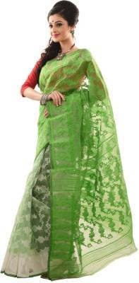 Neel,S Collection Self Design Jamdani Handloom Cotton Sari