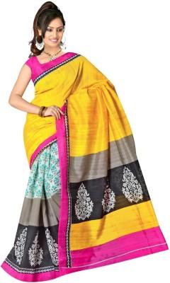 Dhanu Fashion Printed Bhagalpuri Handloom Silk Sari