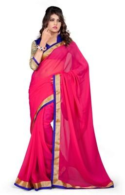 Shiddhi Vinayak Creation Solid Bollywood Chiffon Sari