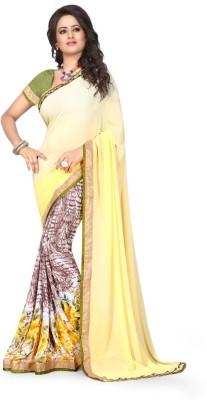 Granth Floral Print Bollywood Georgette Sari