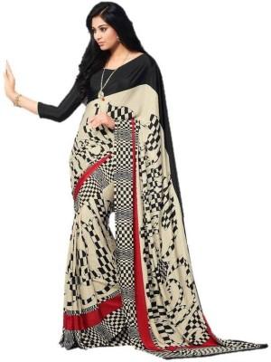 DESIGN WILLA Printed Bollywood Crepe Sari