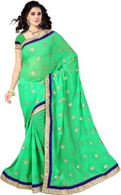 Vishnupriya Fabs Embriodered Fashion Georgette Sari