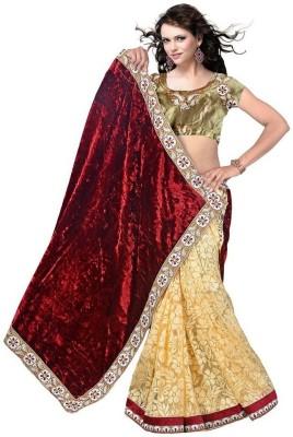 Gehna Saree Embriodered Bollywood Velvet Sari