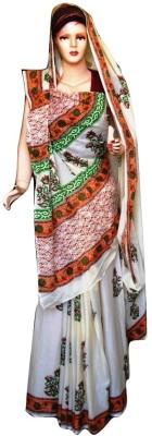 Sprint Textiler & Manufacturer Floral Print Phulkari Handloom Cotton Sari