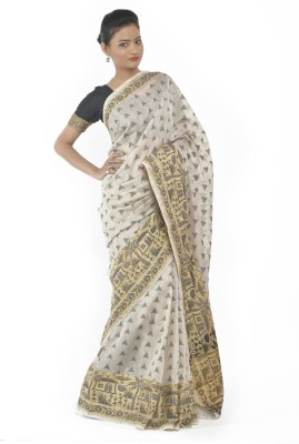 TanushreeFashion Plain Fashion Cotton Sari