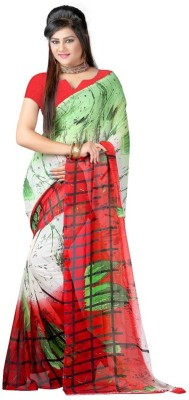PINK SISLY Printed Bandhani Georgette Sari