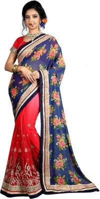 Heaven Deal Floral Print Fashion Georgette Sari
