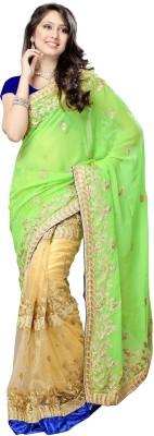 Dlines Self Design Fashion Chiffon Sari