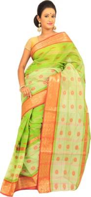 Loom&Crafts Woven Tant Handloom Cotton Sari
