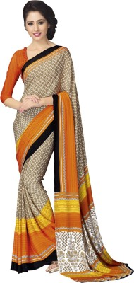 shart Embriodered Fashion Chiffon Sari