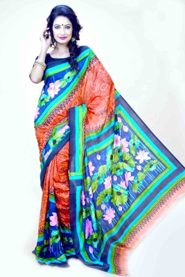 Indian Saree Mandir Self Design Baluchari Silk Sari