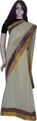 Vasah Embriodered Mundum Neriyathum Cotton Sari